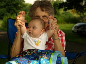 Playing with Great Aunt Jean