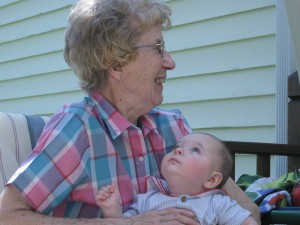 Dylan gazes at his Great Great Aunt Francis.